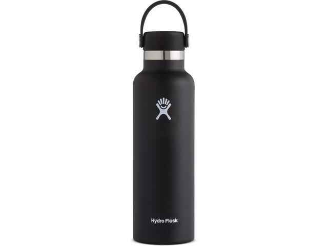 Hydro Flask Standard Mouth Bidón con Tapa Estándar Flex 621ml, negro